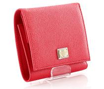 Dolce & Gabbana Portemonnaie Geldbörse Leder pink geprägt
