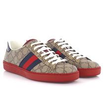 Sneakers Ace Canvas -Details Logoprägung Schlangenleder blau rot