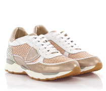 Sneakers City Bassa Leder bronze perforiert gold metallic Glitzer