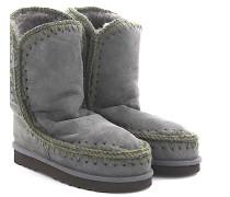 Stiefeletten Boots Eskimo 24 Veloursleder Stricknaht