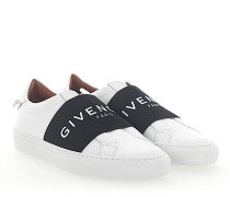 Slip-On Sneaker URBAN STREET Leder weiss Logo