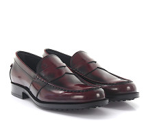 Loafer D0K130 Leder bordeaux poliert