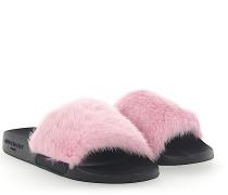 Sandalen SLIDE Kautschuk schwarz Nerz rosa