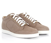 Sneakers Miami Mid Cut Leder taupe finished Print