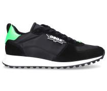 Sneaker low NEW RUNNER Textil Veloursleder Logo grün
