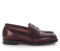 Slipper Boston Leder Cordovan Bordeaux