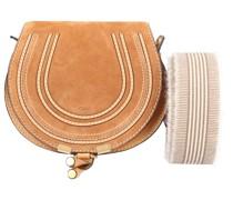 Handtasche MARCIE MINI Veloursleder Kalbsleder logo