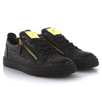 Sneaker London Franky Kroko-Print Leder