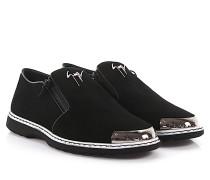 Slip-On Sneaker COOPER Veloursleder silber Kappe