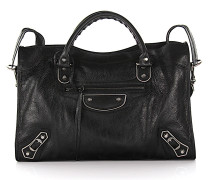 Handtasche Giant City Metal Leder crinkled Nieten