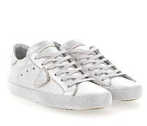 Sneaker PARIS Leder metallic Glitzersohle