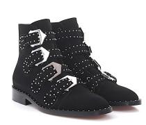 Stiefelette Boots BE08143 Veloursleder Nieten