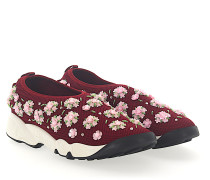 Sneaker Slip On FUSION Mesh bordeaux