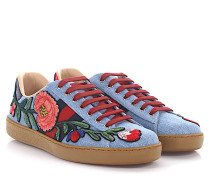 Sneaker K5G20 Denim -Webdetails Ayers Schlangenleder rot Blumenprint