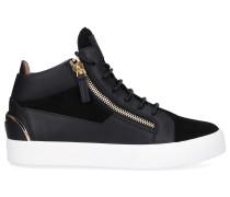Sneaker high MAY LOND. Kalbsleder Veloursleder Logo