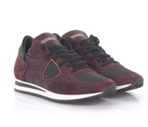 Sneakers Tropez L U Veloursleder Nylon bordeaux