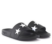 Sandalen SLIDE FLAT Kunststoff Sternen Print