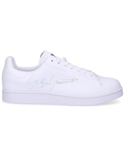 Sneaker low YOHJI COURT Kalbsleder Lochmuster Logo