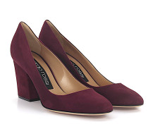Pumps A75252 Veloursleder bordeaux