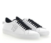 Sneaker URBAN STREET Leder weiss schwarz Sternenmuster