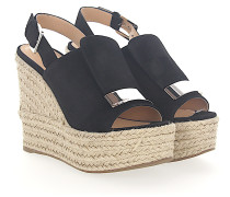 Wedge Sandalen A80200 Veloursleder Gold-Plated