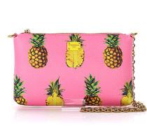 Handtasche Ananas Print geprägt