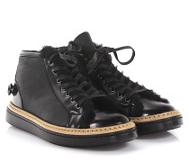 AGL Sneakers Mid Cut Leder Veloursleder finished Lammfell