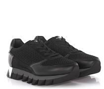 Sneakers Leder Veloursleder Mesh