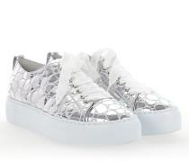 Sneaker D925065 Plateau Leder metallic Stein-Muster