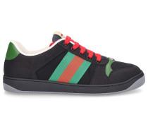 Sneaker low SCREENER Kalbsleder Canvas Logo grün rot
