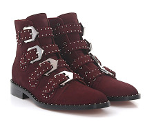Stiefeletten Boots BE08143 Veloursleder Nieten silber