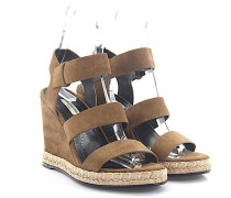 Wedge Sandalen Veloursleder