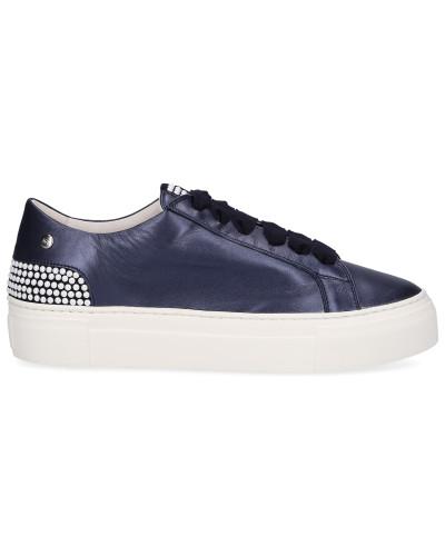 Sneaker low 925011 Kalbsleder Logo Perlen
