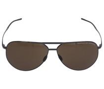 Sonnenbrille Aviator P8688 D 62/12 Titan silber