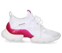 Sneaker low TAISS Kalbsleder Logo pink