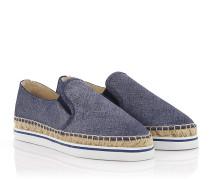 Espadrilles Slip-On Sneaker Dawn Denim Leder