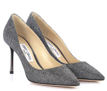 Pumps Romy 85 Glitzer-Lamé anthrazit