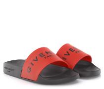 Sandalen Plate Slide Kautschuk schwarz