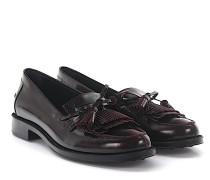Loafer 0V060S Leder bordeaux Tasseln Fransen