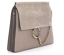 Handtasche Faye Veloursleder