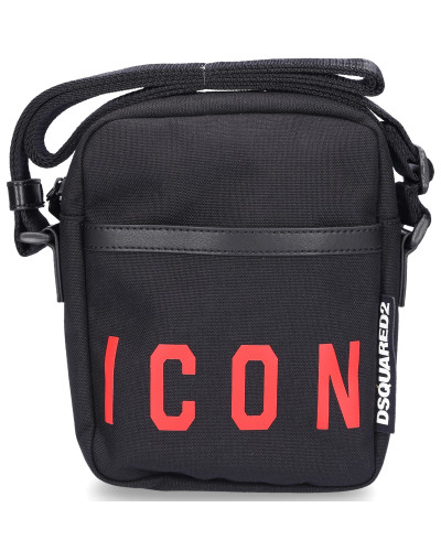 Schultertasche MR.ICON Nylon Logo schwarz