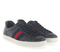 Ace Sneaker K2LH0 Canvas schwarz grau GG-Detail