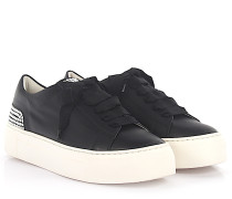 AGL Sneaker D92501 Plateau Leder Perlen