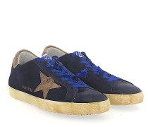 Sneaker G29MS Veloursleder blau Star-Patch braun