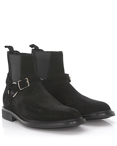 Wie Viel Saint Laurent Herren Chelsea Boots Army 20 Veloursleder Billige Echte SjLej