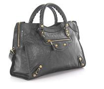 Handtasche Schultertasche Giant 12 City Leder Design-Nieten