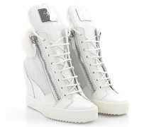 Wedge Keilsneaker PIPER Leder Veloursleder weiss