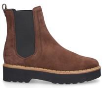 Chelsea Boots W80C Veloursleder Logo