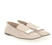Slipper A77990 Nappaleder Silber-Plated