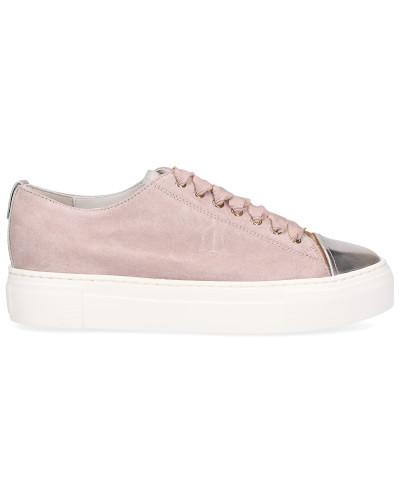 Sneaker low 925013 Veloursleder Logo rosé